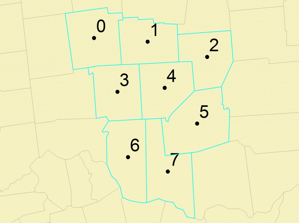 Counties with Centroids