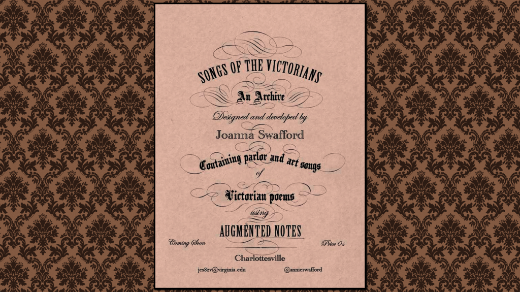 "Songs of the Victorians ""Coming Soon"" page"