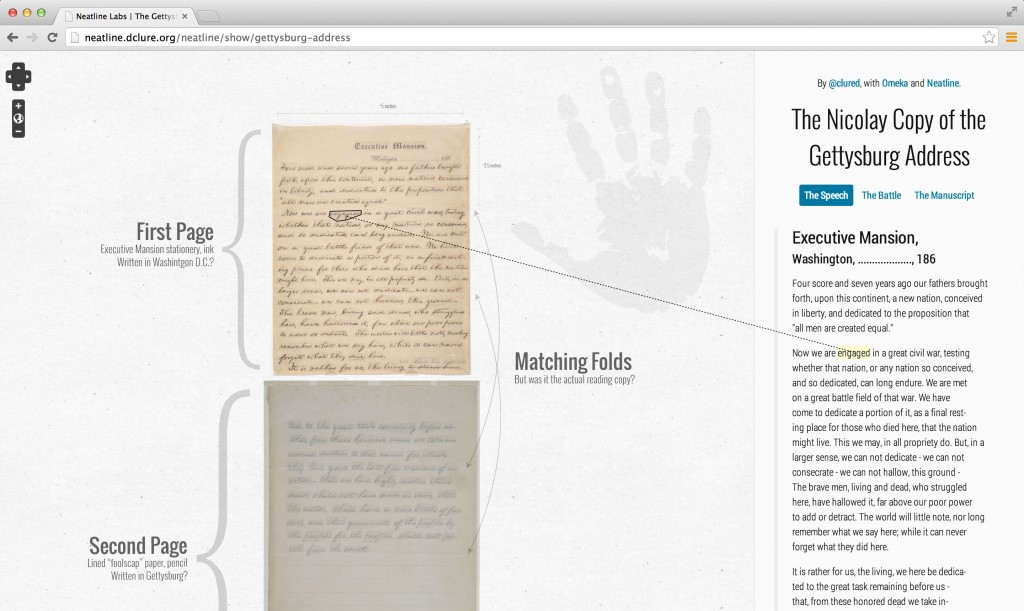 Neatlinetext Connect Neatline Exhibits To Documents  Scholars Lab Nltextgettysburg