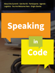 screenshot from the speaking in code website