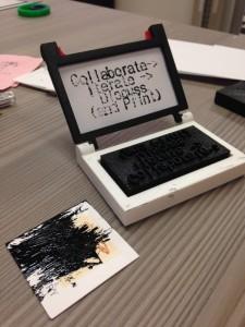 mini-press relief ink